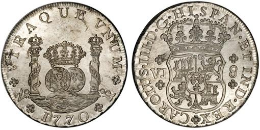 Colombian 1770 Pillar Dollar