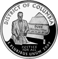 DC Duke Ellington Themed Proof Quarter