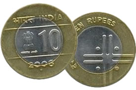 "Indian ""Unity in Diversity"" Themed 10 Rupee Coin"