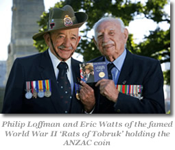"Philip Loffman and Eric Watts of the famed World War II ""Rats of Tobruk"""