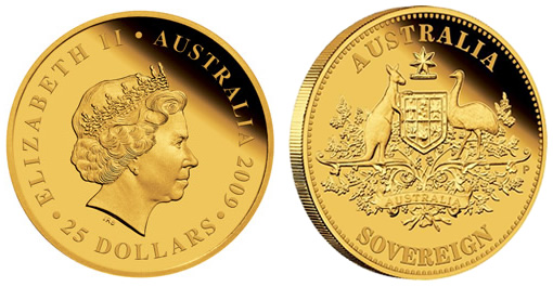 2009 Perth Mint Gold Proof Sovereign
