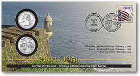 Puerto Rico Official First Day Coin Cover