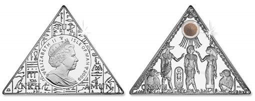2009 Tutankhamun Sand Triangle Coin