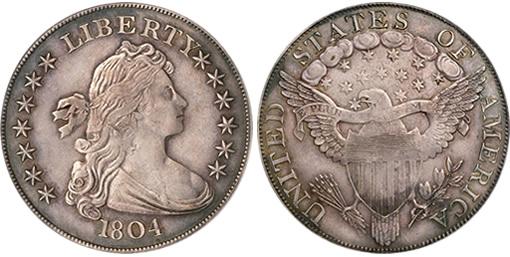 Adams-Carter 1804 Class III Silver Dollar