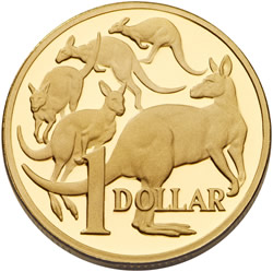 Australia $1 coin, Five Kangaroos Design