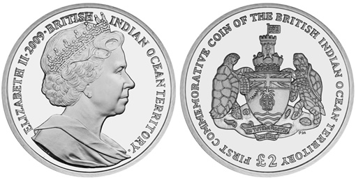 British Indian Ocean Territory 2009 First Commemorative Coin