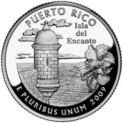 Puerto Rico Quarter- Reverse