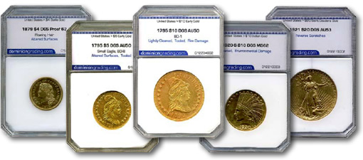 Dominion Grading Service Certified Rare Coins