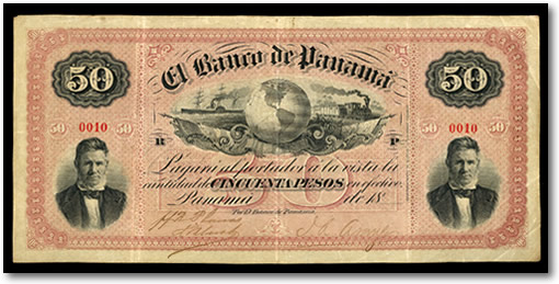 Panama 50 Pesos 1869