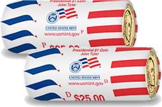 Tylyer Presidential Dollar coin rolls
