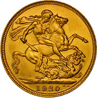Proof 1920 Sydney Mint Sovereign
