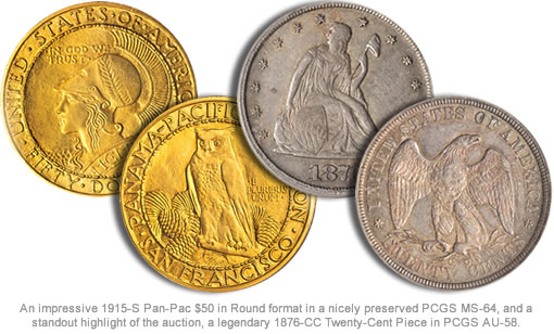 Two Rare Coins in Bowers and Merena Auction at Baltimore