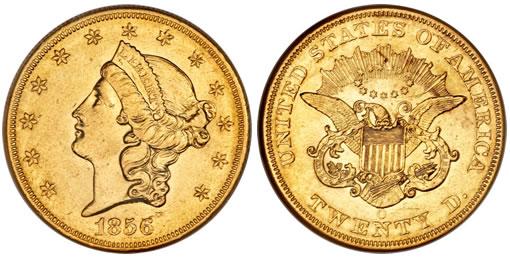 1856-O double eagle