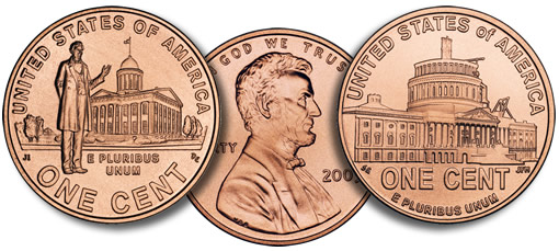 2009 Lincoln Pennies: Professional Life and Presidency Designs
