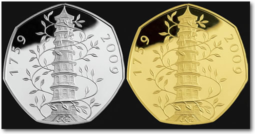 2009 UK Kew Gardens Silver and Gold Coins
