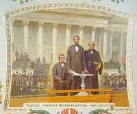 Artist Rendering: Lincoln inaugural address