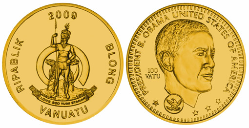Barack Obama Presidency Commemorative Coin from Vanuatu