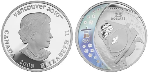 Canadian Silver Bobsleigh Hologram Coin