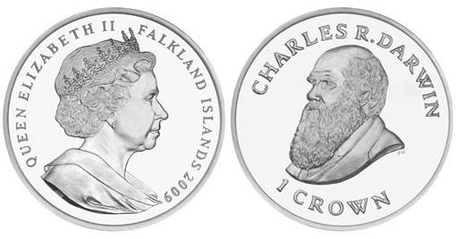 Falkland Islands Bicentennial Charles Darwin Coin