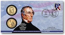 John Tyler $1 Coin Cover