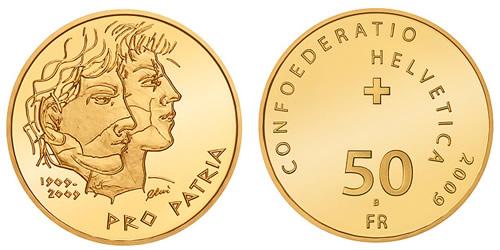 Swiss Pro Patria Centenary Gold Coin
