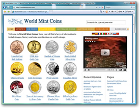 World Mint Coins Web site