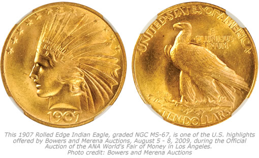 1907 Rolled Edge Indian Eagle