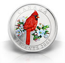 25-Cent Coloured Coin – Northern Cardinal (2008)