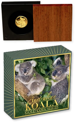 2009 Australian Koala Gold Proof Coin Packaging