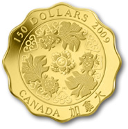 2009 Blessings of Wealth $150 Canadian Gold Coin