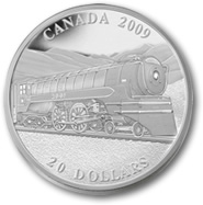 2009 Great Canadian Locomotives Series Jubilee $20 Silver Coin