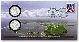 Guam Official First Day Coin Cover