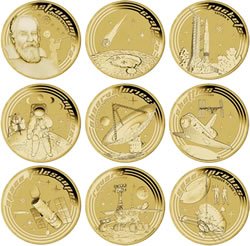Young Collectors Space Coins from Australia