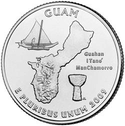 2009 Guam Quarter- Reverse