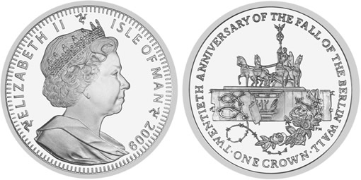Isle of Man Fall of the Berlin Wall Coin