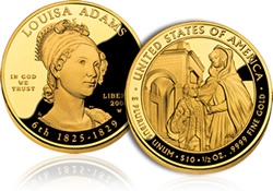 Louisa Adams First Spouse Gold proof coin
