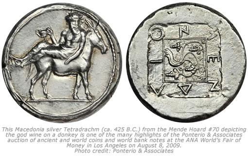 Macedonia Mende silver Tetradrachm