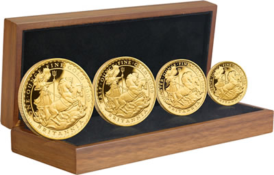 Royal Mint 2009 Britannia Gold Proof Four-Coin Set
