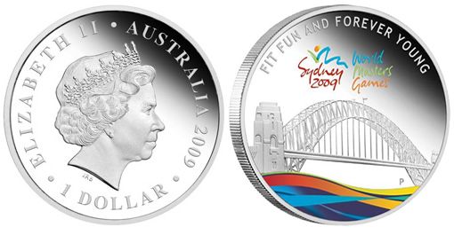 Sydney 2009 World Masters Games 1oz Silver Proof Coin