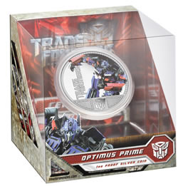 Transformers Silver Coin Packaging