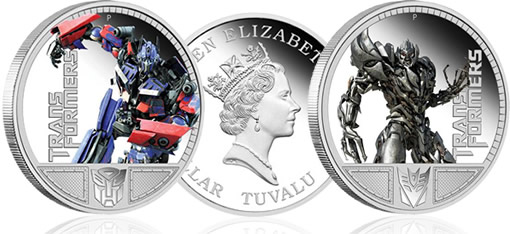 Transformers Silver Collectible Coins