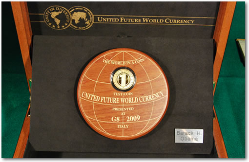 United Future World Currency – Eurodollar coin