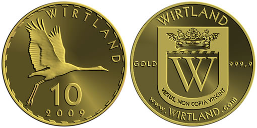 Wirtland Crane Cybercountry Gold Coin