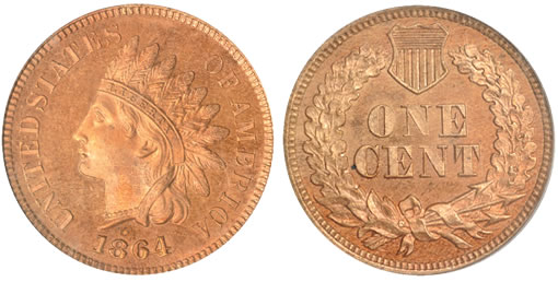 1864 Indian Cent