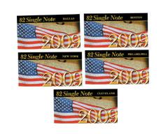 2009 $2 Single Notes: Richmond, Atlanta, Chicago, St. Louis and San Francisco