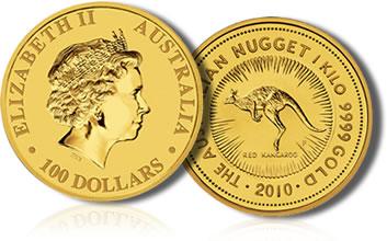 2010 Australian Kangaroo Gold Bullion Coin - Kilo Size