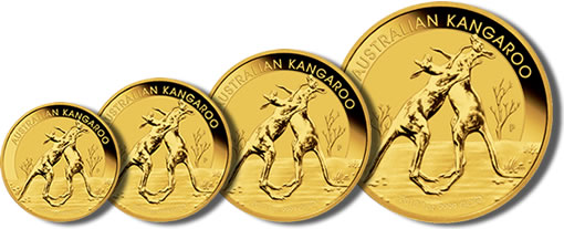 2010 Australian Kangaroo Gold Bullion Coin Series, Boxing Design