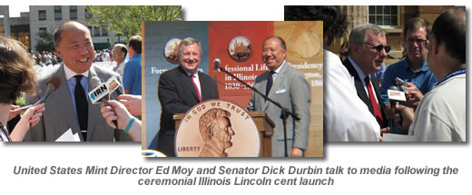 United States Mint Director Ed Moy and Senator Dick Durbin