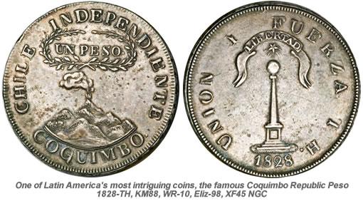 Rare Coquimbo Republic Peso Coin