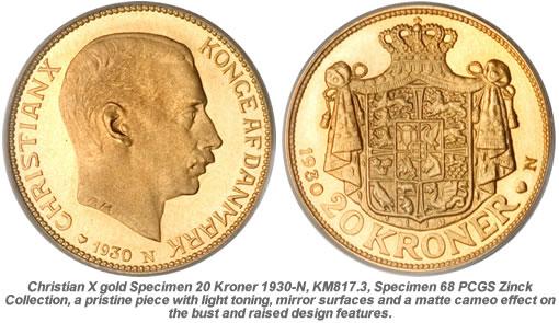 Rare Danish 20 Kroner 1930 N Coin